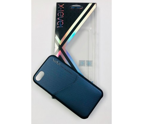 FUNDA X-LEVEL ENJOY CARD BLUE IPHONE 7, 7 PLUS, 8, 8 PLUS I XS